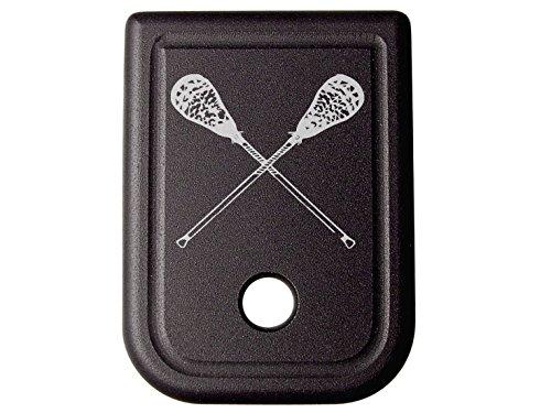 for Glock 9MM .40 Gen 1-5 Floor Base Plate Black NDZ Lacrosse Sticks Crossed by NDZ Performance
