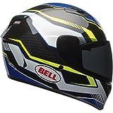 Bell Qualifier Torque Full-Face Motorcycle Helmet (Gloss Blue/Yellow/White, Medium)