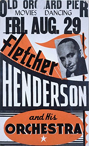 Fletcher Henderson Vintage Poster USA c. 1941 (12x18 SIGNED Print Master Art Print w/ Certificate of Authenticity - Wall Decor Travel - Stamp Poster 1941