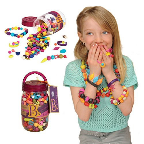 B. toys – Official Pop Arty! Beauty Pops – Pop Beads Jewelry Making Kit for 4, 5, 6, 7 Year Old Girls – BPA Free Necklace Bracelet Rings Creativity DIY Set – Arts and Crafts Gifts for Kids (275PCS) by B. toys by Battat
