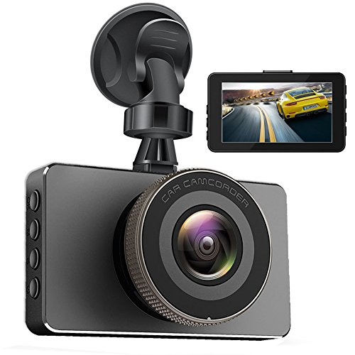 Dash Cam,Car Camera DVR Dashboard 3.8″,170 Degree Wide Angle,Full HD 1080P, Vehicle On-dash Video Recorder Camcorder with G-Sensor Loop Recording