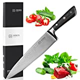 IMMEK Chef Knife, Chef's Knife 8 inches, Kitchen knife High Carbon, Stainless Steel Knives for Dealing with Meat, Fruit and Vegetables