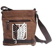Amazon Lightning Deal 54% claimed: Besteam Attack on Titan Shingeki No Kyojin Survey Cops Canvas Shoulder Messenger Bag