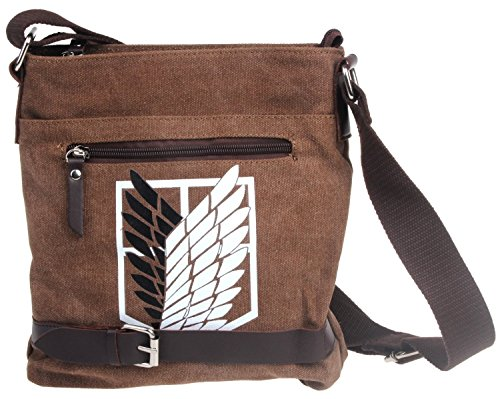 Amazon Lightning Deal 54% claimed: Besteam Attack on Titan Shingeki No Kyojin Survey Cops Canvas Shoulder Messenger Bag