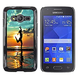 iKiki Tech / Estuche rígido - Beach Yoga Summer Shadow Relief - Samsung Galaxy Ace 4 G313 SM-G313F