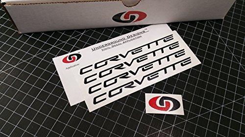 CORVETTE Wheel Decals C5 C6 Racing Stickers (4 pack) 0.75