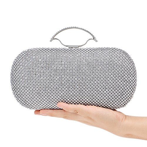 Diamonds Luxury BLACK Bag Fly Silver Europe The evening Evening Bag Star And States bag Dress Women's Bag Clutch Color Wild Luxury United Banquet 1YzFq