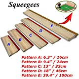 INTBUYING Screen Printing Squeegee Ink Squeegee