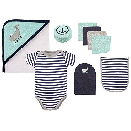 Hudson Baby 9-Piece Bath Time Gift Box Set, Whale