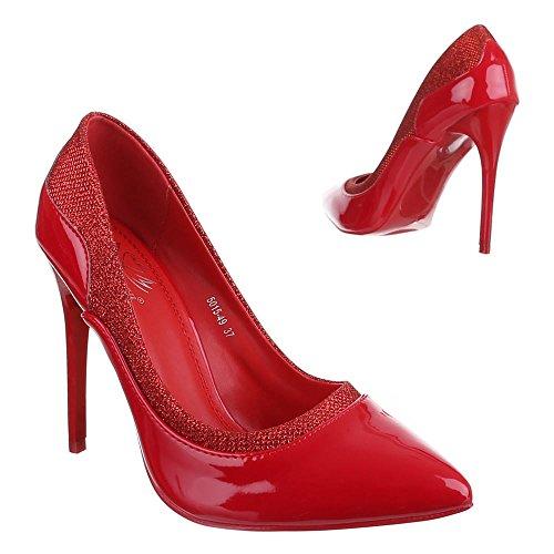 Rojo Mujer Ital Design rojo Tacón Zapatos de Xxn7Izwn