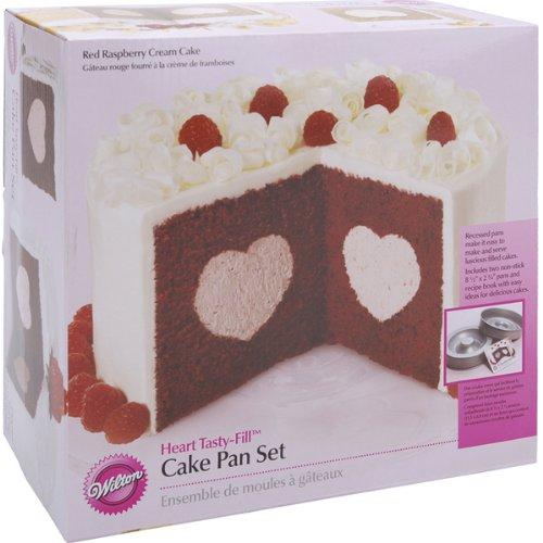 Tasty-Fill Cake Pan Set-Heart 8.5''X2.75 Tasty-Fill Cake Pan Set-Heart 8.5''X2.75