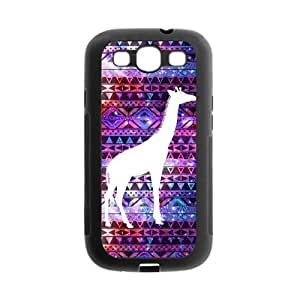 Danny Store Aztec Tribal Pattern Giraffe Protective TPU Gel Rubber Back Fits Cover Case for SamSung Galaxy S3