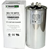 80/10 MFD Replaces Both 440 and 370 Volt Round Run Capacitors Dual Capacitor TradePro 80 + 10