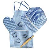 Bigjigs Toys Chef Outfit Set (Blue) with Baking Accessories