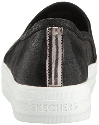 Skechers Street Womens Double Up-shiny Ballerino Moda Sneaker Nero