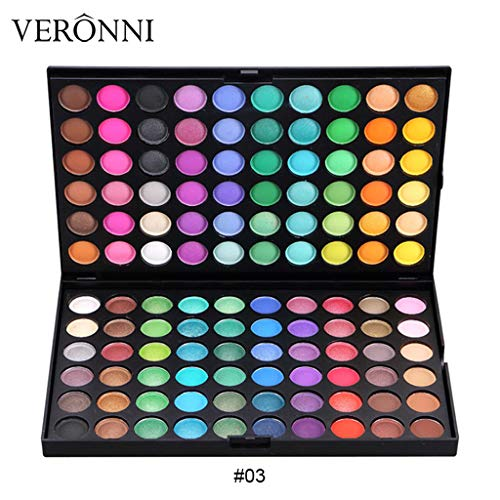 Matte Shimmer Earth Warm Color Eyeshadow Palette Makeup Eye Shadow 120 -