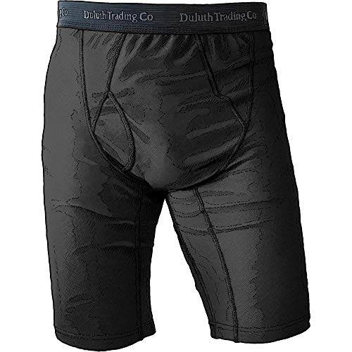 Duluth Trading Company Men's Extra Long Buck Naked Boxer Briefs (Many Colors) (L, Black)]()