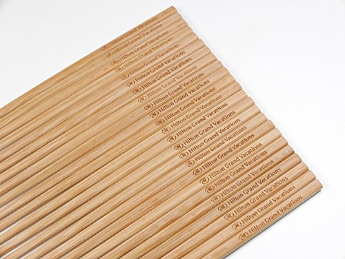 50 Pairs 10 Inch Natural Bamboo Chinese Chopsticks Engraved with Custom Logo - Choice of Corporation Buyers - Wholesale Washable High Quality Bamboo Chopsticks in Bulk for Wedding or Business Function by STONE&WOOD (Image #7)