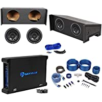 Jeep Wrangler CJ7/YJ/TJ/JK Dual Subwoofer Box+(2) Rockford 10 Subs+Amp+Amp Kit