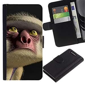 All Phone Most Case / Oferta Especial Cáscara Funda de cuero Monedero Cubierta de proteccion Caso / Wallet Case for Sony Xperia Z1 Compact D5503 // Face Eyes Nose Cartoon