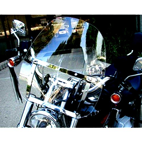 "Price comparison product image Kawasaki Windshield Vulcan Large 19""x17"" VN 500 750 800 900 1500 1600 1700 Durable Skroutz"
