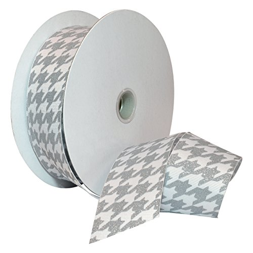 Morex Ribbon 7509.38/25-124 Hounds Tooth Grosgrain Ribbon, 1-1/2-Inch by 25-Yard, ()