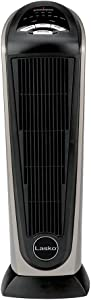 Lasko 751320 Ceramic Tower Space Heater with Remote Control - Features Built-in Timer and Oscillation,Gray 751320