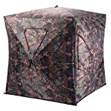 Tangkula Hunting Blinds 2-3 People Portable Pop Up Turkey Hunting Tent Woodland Backwoods Camping Hiking 150 Oxford Weather Proof Mesh Window Ground Blind