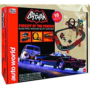 Round 2 Auto World: Batman: Pursuit of The Penguin Slot Car Set
