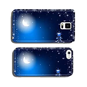 Christmas tree in the moonlight cell phone cover case Samsung S6