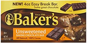 Baker's Unsweetened Baking Chocolate Squares, 4 Ounce