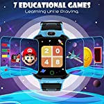 CMKJ Kids Smartwatch with 7 Games, Waterproof Watch for Children with MP3 & MP4 Player, Touchscreen Gaming Watch Gift…