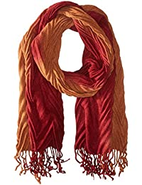 Women's Ombre Pleated Muffler Scarf