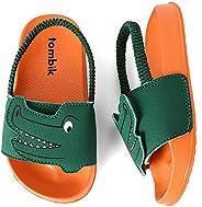 tombik Toddler Boys & Girls Beach/Pool Slides Sandals   Kids Water Shoes