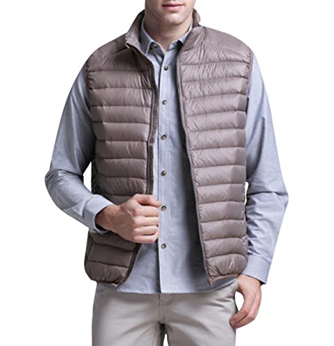 Camel Winter Down Sleeveless Mens Vest Packable Slim Lightweight MK988 Puffer zTA5w7B5q