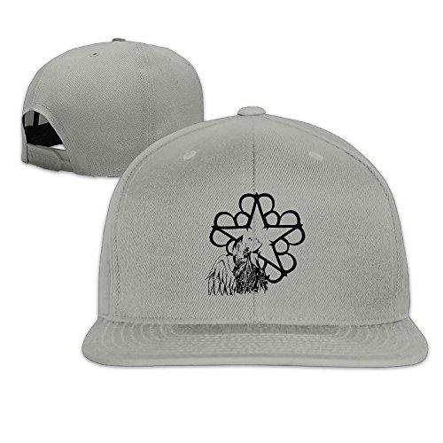 HYRONE For Men Women Hip Hop Baseball-Caps Mesh Back Black Veil Star Cap Hats Ash