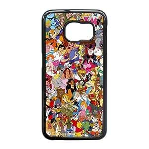 Samsung Galaxy S6 Edge Case (TPU),Samsung Galaxy S6 Edge Cell phone case Black for all disney characters - KKHG5333425