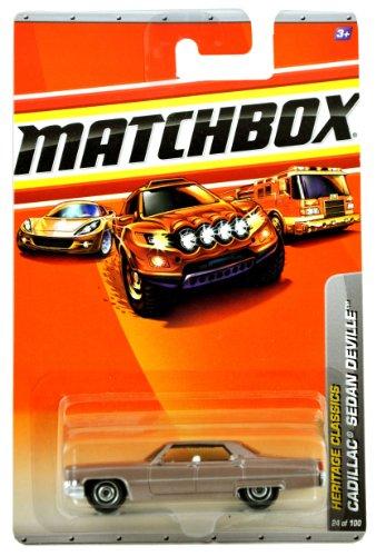 Mattel Year 2009 Matchbox MBX Heritage Classics Series 1:64 Scale Die Cast Car #24 - Classic Luxury Full-Size Gold Color CADILLAC SEDAN DEVILLE (Deville Color)