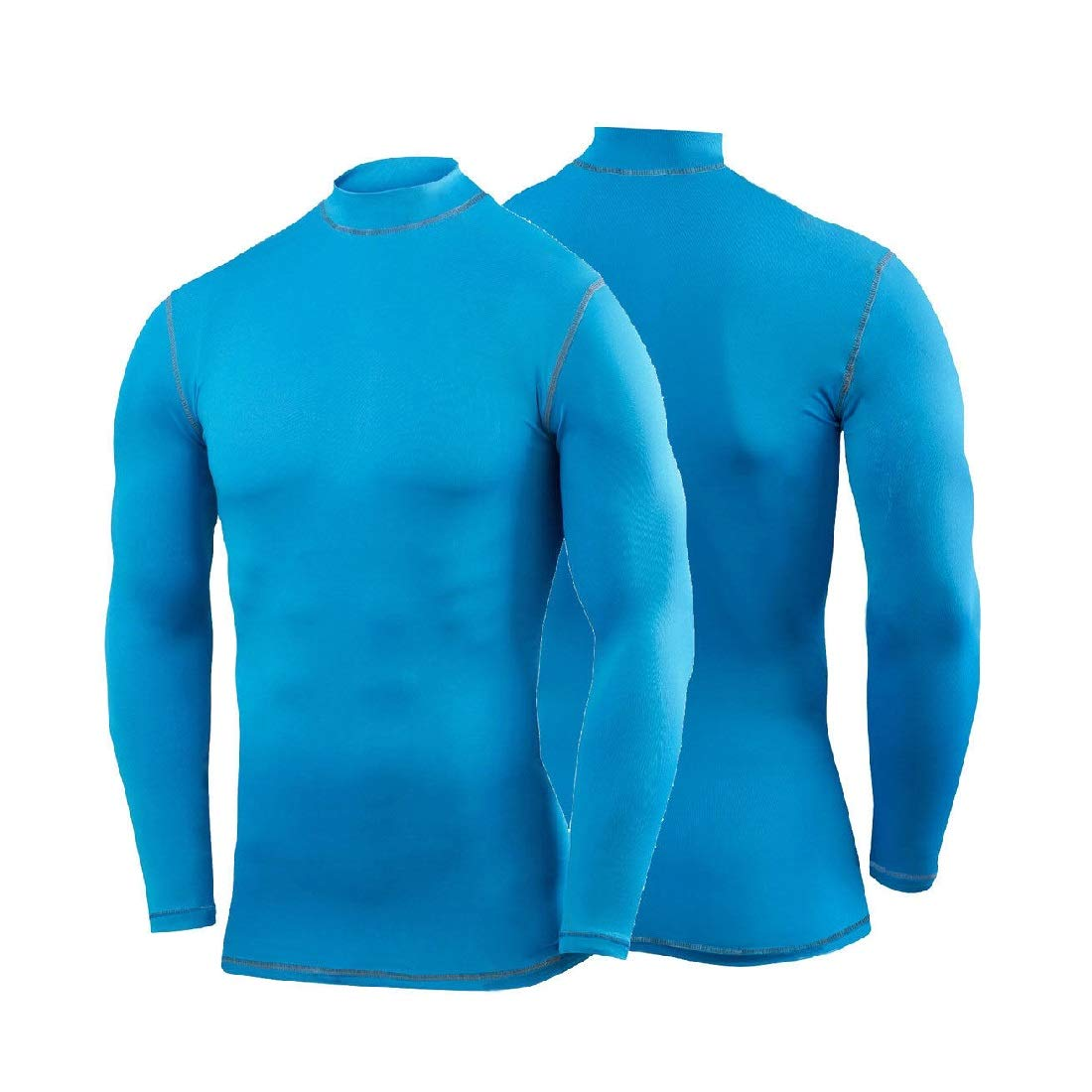 Mens Polo Royal Blue Long Sleeve Compression Shirt Base Layer Tights #HLFN XS-S Peppermint Store