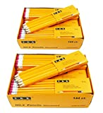 SKKSTATIONERY Pre-sharpened pencils, Pencils Sharpened with eraser top, #2 HB pencil, 144/box (Box of 2)
