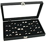 View Top Leatherette Jewelry Tray With 72 Slots Ring Form
