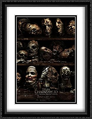 Texas Chainsaw 3D 28x36 Double Matted Large Large Black Ornate Framed Movie Poster Art Print