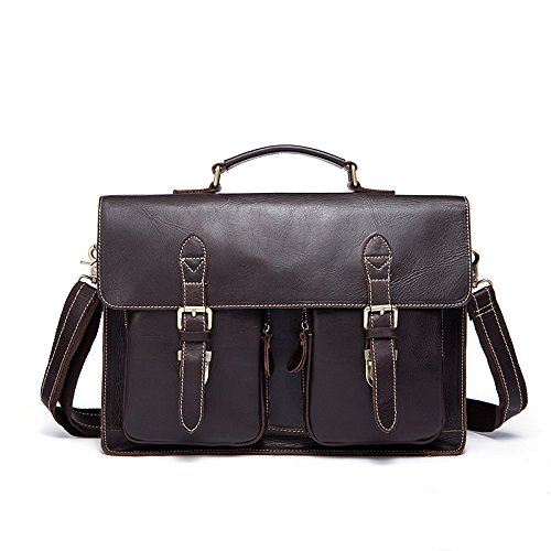Darkcoffeecolor Messenger Men's Briefcases Bag Shoulder Business Portable paaPqAfx