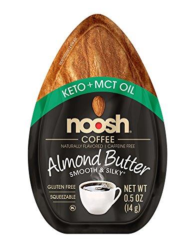 Ketogenic Diet Snacks Coffee Keto + MCT Oil Almond Butter by Noosh Brands