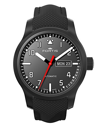 Amazon.com: Fortis Aviatis AEROMASTER PROFESSIONAL Automatic Swiss Day/Date watch 655.18.10: Watches