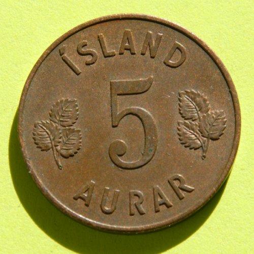 ICELAND 5 AURAR coin 1946 #4