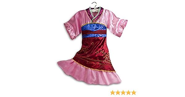 DISNEY Principessa Mulan Costume Vestito Libro Giorno Costume BNWT George