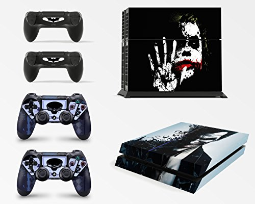 Gizmoz n Gadgetz GNG PS4 Console Dark Joker From Batman Skin Decal Vinal Sticker + 2 Controller Skins Set