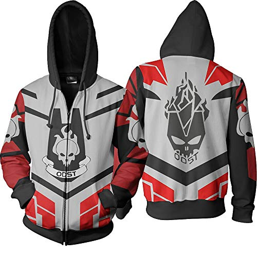 Halo Scout Costumes - Halo ODST Full Zipped Pullover Hooded