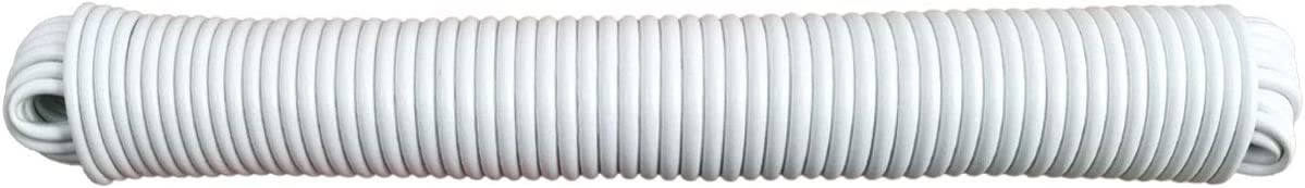 Koch 5640625 3/16 by 100-Feet Plastic Coated Clothesline, White